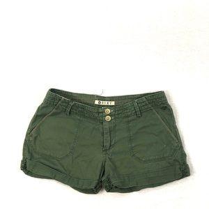 ROXY fatigue green shorts